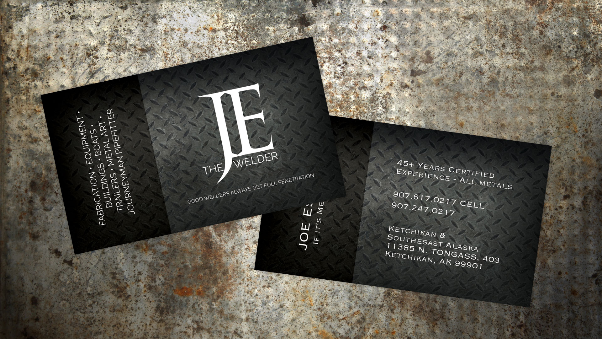 Joe The Welder Business Cards Misti